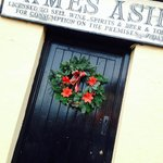 Front door of Ashes Pub
