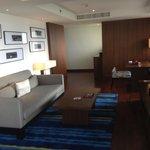 Lounge room beachfront suite