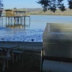 A sitting nook to enjoy Tomales Bay.