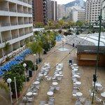 Hotel pool courtyard
