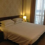 King sized bed, firm but comfortable Premier room