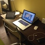 Desk (w/built in USB, HDMI, VGA & 2 Universal Power outlets)