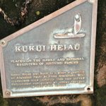 There is a sacred heiau nearby
