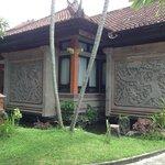 Belle fresques sur les bungalows