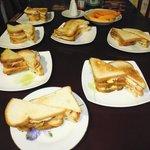 Club Sandwich for Dinner