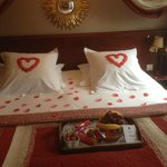 Romantic arrangement of the room