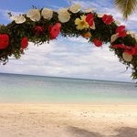 indischer Ozean durch die Blumen
