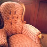 Beautiful old era furniture adorns the hotel