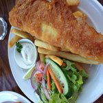 Butterfish with chips