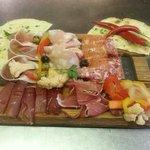 Selection of Italian salami