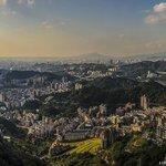 11 image panorama of Taipei form the Maokong Gondola