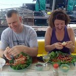 Yummy...fresh shell fish straight from the sea to our plates!