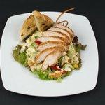 Grilled Chicken Brest On Salad leaves
