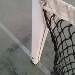 Broken tennis net