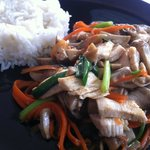 stir fried chicken and mushrooms
