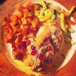 Delicious Apple Brie Chicken @ Splashing Rock Restaurant