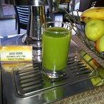 Rico el jugo verde, lo recomiendo