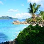 Ausblick auf der Strand vom unsere Bungalow