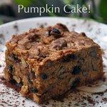 The American style pumpkin cake
