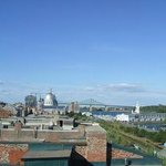View from terrace arché Bonsecour and Champlain Bridge