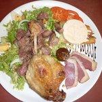 Magret, gésiers, Foie Gras, Confit de canard