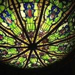 Great stained glass lighten in the dining room