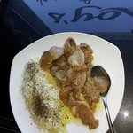 Pork loin in garlic sauce