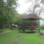 Deck overlookinG the Zambezi