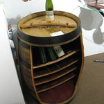 Old Wine Barrel now a Wine Bottle Rack