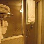 Walk-in shower (just like a sauna!)