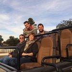 The family in the safari jeep