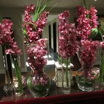 lobby joliment fleuri
