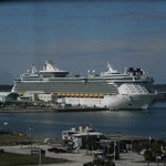 """""""Freedom of the Seas"""" from the observation deck"""