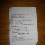 Ticket carte bancaire (prix de 2 chambres et 1pdj)