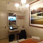 Bedroom with built in TV + Internet