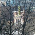 Avon Theatre - telephoto from our apt. thru the trees