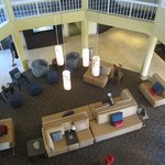 Looking down to the lobby from the 3rd floor