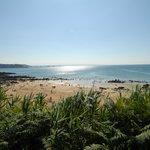 la plage de goas lagorn, à moins de 500 métres du camping