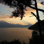Sunset over Lago de Atitlan from Casa Del Mundo