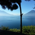 Sunrise over Lago de Atitlan from Casa Del Mundo