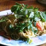 Thai style noodles with chicken--delicious!