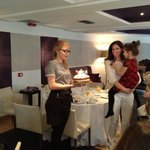 That's me blowing out my Birthday Candles!
