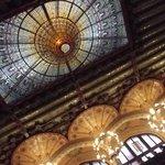 la coupole du Palais de la Musique à Barcelone