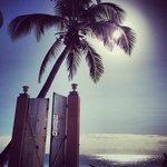 Vista hacía playa paraiso