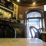 Early morning interior of Café Mondegar, Mumbai