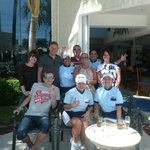 The fab waitresses and friends.(im the one with my arm round Sandra with my wife far left and ki