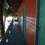 Veranda of private rooms