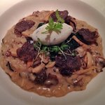 A wonderful mushroom risotto with black truffles
