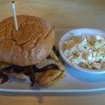 Krusty burger w/ coleslaw