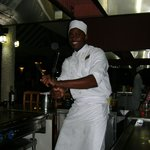 Our HarrySan chef - always an entertaining dining experience!
